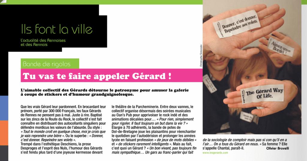 Les Rennais, magazine de l'information municipale. Les Gérards