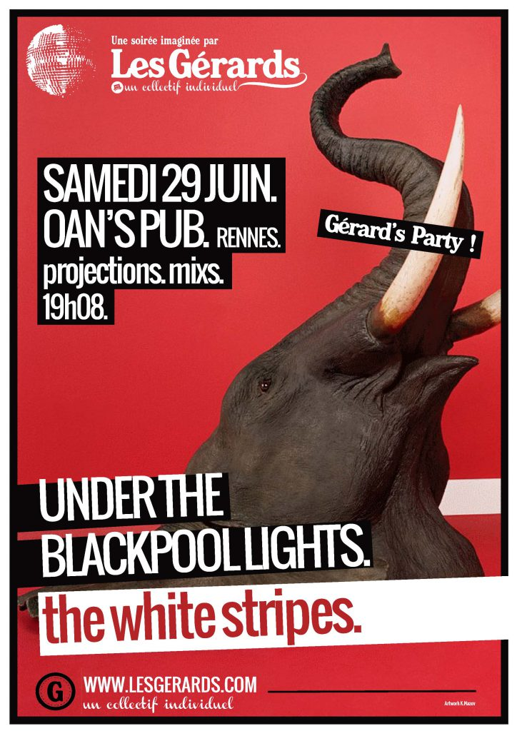 13.06.29 - GERARD'S PARTY - UNDER THE BLACKPOOL LIGHTS THE WHITE STRIPES